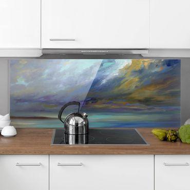 Spritzschutz Glas - Himmel über Küste - Panorama