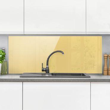 Spritzschutz Glas - Honig - Panorama Quer