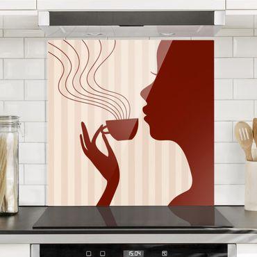 Spritzschutz Glas - Hot Coffee - Quadrat 1:1