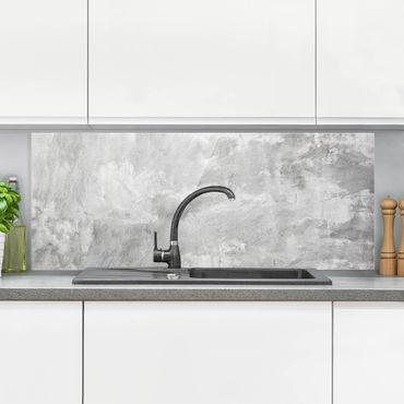 Spritzschutz Glas - Industrie-Look Betonoptik - Panorama Quer