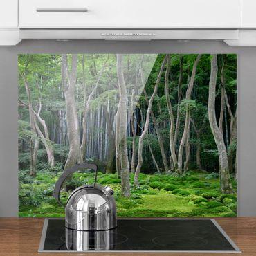 Spritzschutz Glas - Japanischer Wald - Quer 4:3