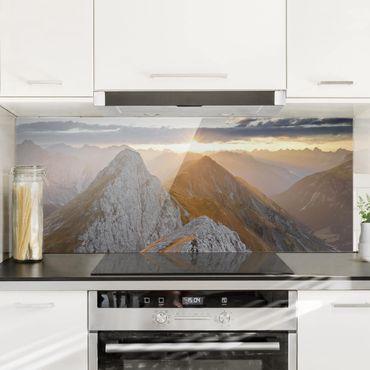 Spritzschutz Glas - Lechtaler Alpen - Panorama
