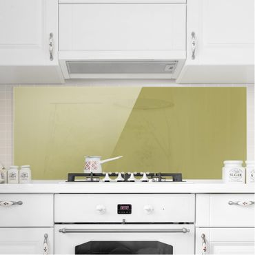 Spritzschutz Glas - Lindgrün Bambus - Panorama Quer