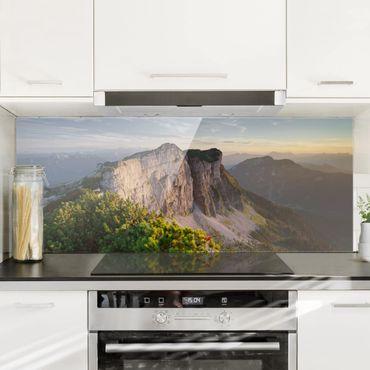 Spritzschutz Glas - Loser Nordwand in Österreich - Panorama