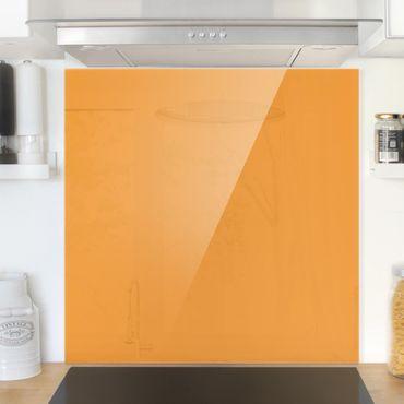 Spritzschutz Glas - Mango - Quadrat 1:1