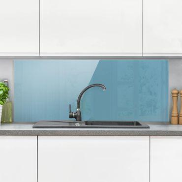 Spritzschutz Glas - Meerblau - Panorama Quer