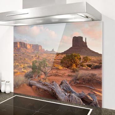 Spritzschutz Glas - Monument Valley Navajo Tribal Park Arizona - Querformat 3:4