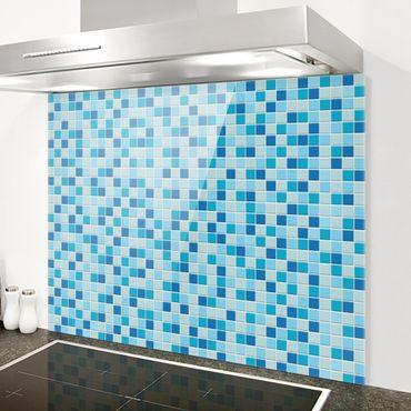 Spritzschutz Glas - Mosaikfliesen Meeresrauschen - Querformat 2:1