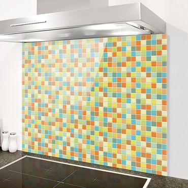 Spritzschutz Glas - Mosaikfliesen Sommerset - Querformat 3:2