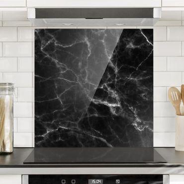 Spritzschutz Glas - Nero Carrara - Quadrat 1:1