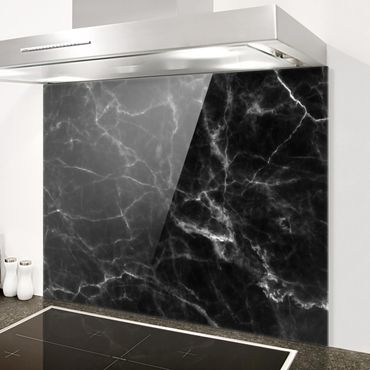 Spritzschutz Glas - Nero Carrara - Quer 4:3