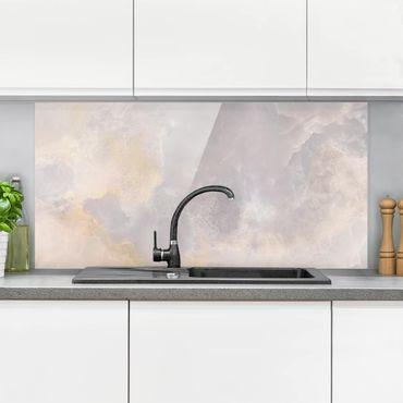 Spritzschutz Glas - Onyx Marmor Grau Marmoroptik - Quer 2:1
