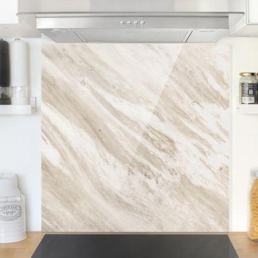 Spritzschutz Glas - Palissandro Marmor Beige - Quadrat 1:1
