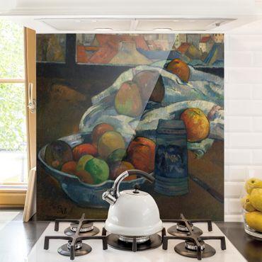 Spritzschutz Glas - Paul Gauguin - Obstschale - Quadrat 1:1