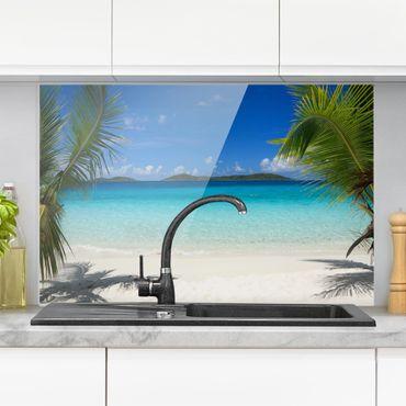 Spritzschutz Glas - Perfect Maledives - Quer 3:2