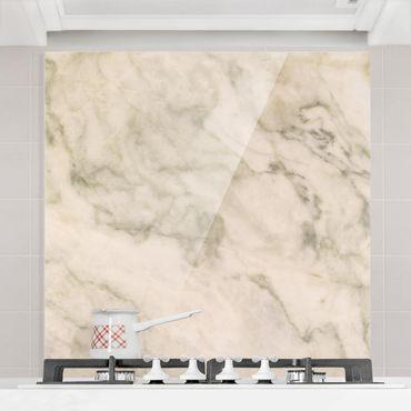 Spritzschutz Glas - Phoenix Marmor - Quadrat 1:1