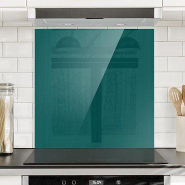 Spritzschutz Glas - Piniengrün - Quadrat 1:1
