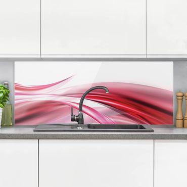 Spritzschutz Glas - Pink Dust - Panorama Quer