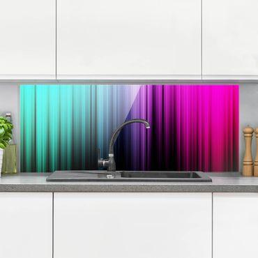 Spritzschutz Glas - Rainbow Display - Panorama Quer