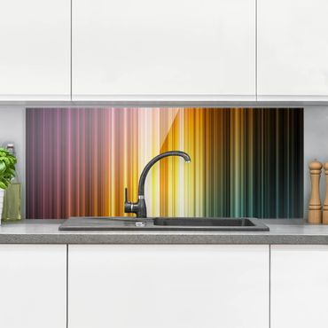 Spritzschutz Glas - Rainbow Light - Panorama Quer