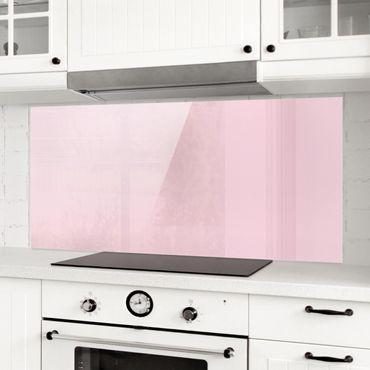Spritzschutz Glas - Rosé - Panorama Quer