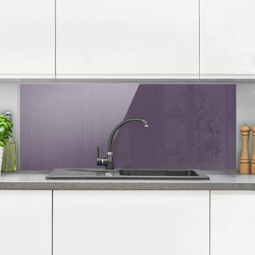 Spritzschutz Glas - Rotviolett - Panorama Quer