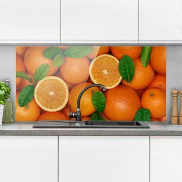 Spritzschutz Glas - Saftige Orangen - Quer 2:1