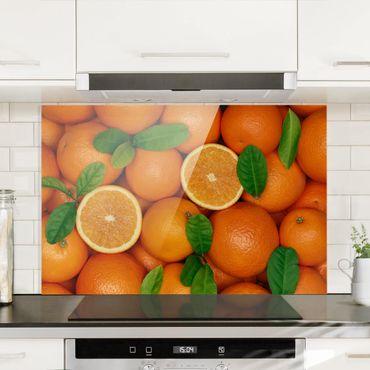 Spritzschutz Glas - Saftige Orangen - Quer 3:2