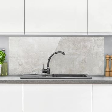 Spritzschutz Glas - Shabby Betonoptik - Panorama Quer