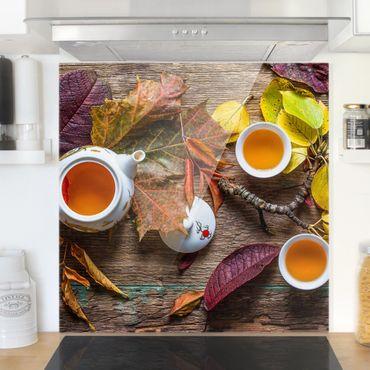 Spritzschutz Glas - Tee im September - Quadrat 1:1