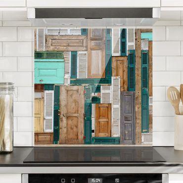 Spritzschutz Glas - The Doors - Quadrat 1:1
