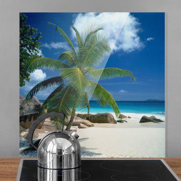Spritzschutz Glas - Traumstrand - Quadrat 1:1