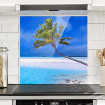 Spritzschutz Glas - Tropical Dream - Quadrat 1:1