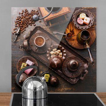 Spritzschutz Glas - Türkischer Kaffee - Quadrat 1:1