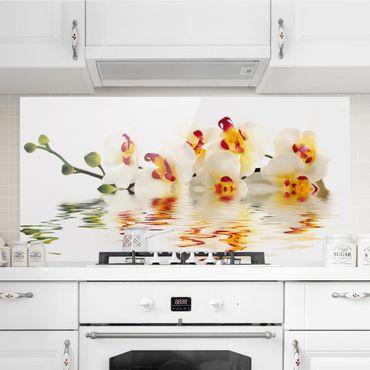 Spritzschutz Glas - Vivid Orchid Waters - Quer 2:1