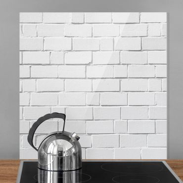 Spritzschutz Glas - White Stonewall - Quadrat 1:1