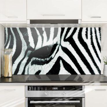 Spritzschutz Glas - Zebra Crossing No.4 - Quer 2:1