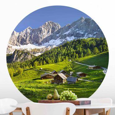 Runde Tapete selbstklebend - Steiermark Almwiese