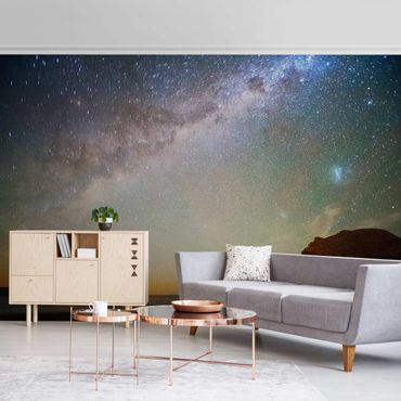 Metallic Tapete  - Sternenhimmel über dem Meer