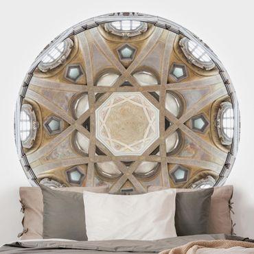 Runde Tapete selbstklebend - Strahlende Kuppel