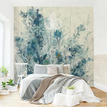 Fototapete - Blaue Frühlingswiese I