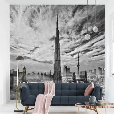 Fototapete - Dubai Super Skyline