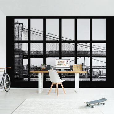 Fototapete Fenster Brücken New York