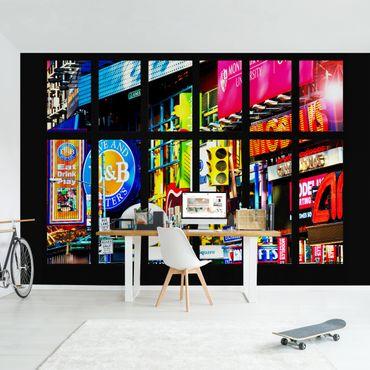 Fototapete Fenster Times Square New York
