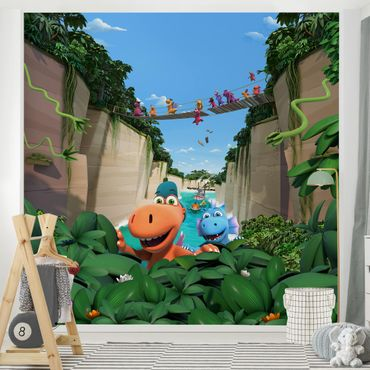 Fototapete Kleiner Drache Kokosnuss - Auf in den Dschungel