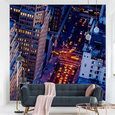 Fototapete Manhattans Taxilichter