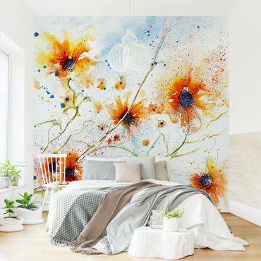 Fototapete Painted Flowers