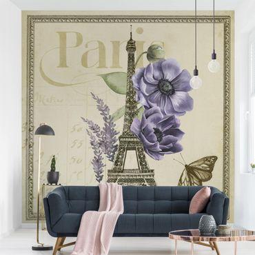 Fototapete - Paris Collage Eiffelturm