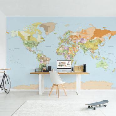 Fototapete Politische Weltkarte