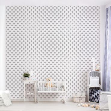 Fototapete Punkte Grau auf Weiß